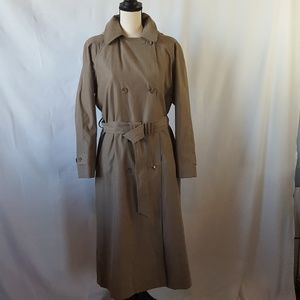 London Fog Petite Belted Trench w/Hood
